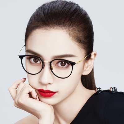 MOLSION光學眼鏡 Angelababy代言/黑-金#MJ6091 B10