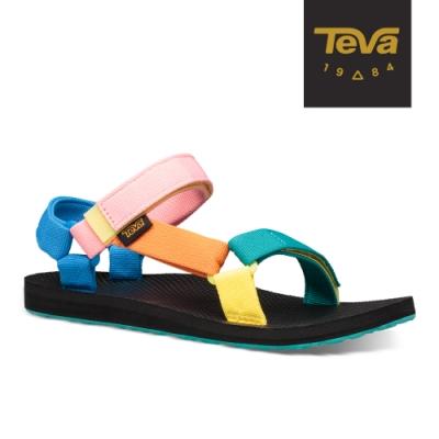 【TEVA】原廠貨 女 Original Universal 經典緹花織帶涼鞋/雨鞋/水鞋(90S彩色-TV1003987SMU)