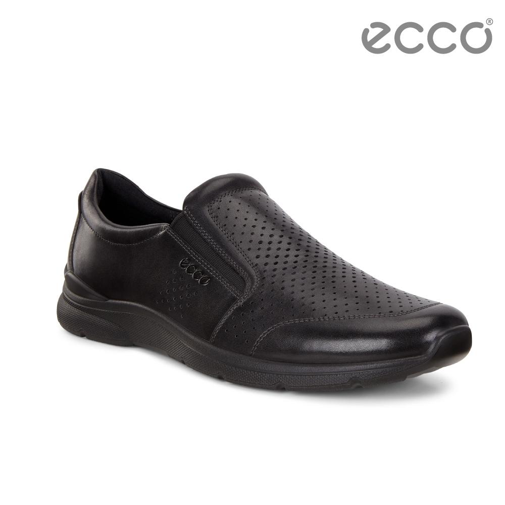 ECCO IRVING 城市時尚風格套入式休閒鞋 男-黑