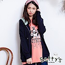 betty's貝蒂思 低調連帽抽繩拉鍊外套(深藍)