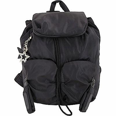 SEE BY CHLOE Joy Rider 大款 附星形吊飾口袋尼龍後背包(黑色) @ Y!購物