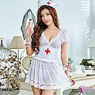 Sexy Cynthia角色扮演 俏麗純情護士角色扮演服五件組-白F