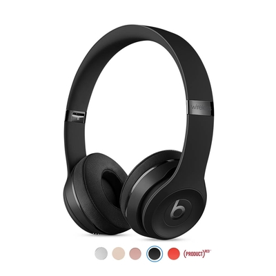 Beats Solo3 Wireless 無線頭戴式耳機-NEW黑包裝(原廠公司貨)