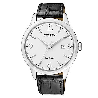 CITIZEN 簡單時尚風光動能腕錶(BM7300-09A)