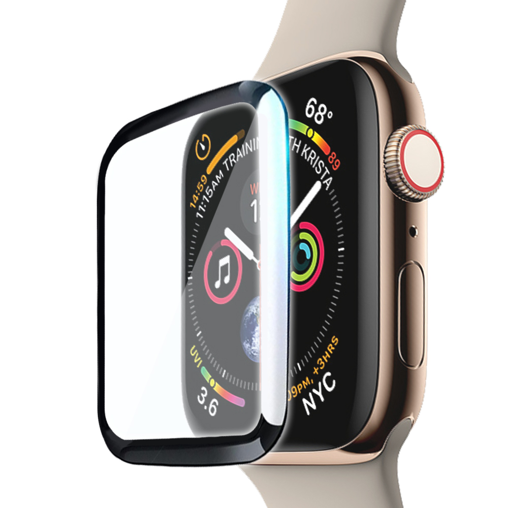 CITY Apple Watch Series 3/2/1 38mm滿版全膠曲面玻璃貼