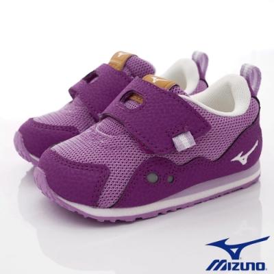 MIZUNO童鞋 大絆帶學步鞋款-ON93255粉紫(寶寶段)