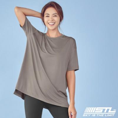 STL yoga Metro NY SS 韓國瑜珈 運動機能 地鐵 蓋臀長版寬鬆短袖上衣 Cappuccino卡布奇諾