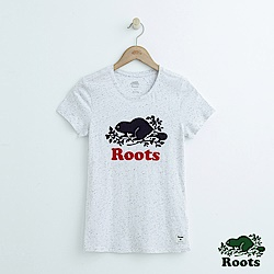 女裝Roots 結粒紗短袖T恤-白