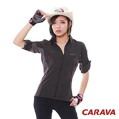 CARAVA《女款彈力排汗襯衫》(黑色)
