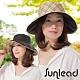 Sunlead 晴雨兩用款。雙面雙色可戴防曬寬緣遮陽帽 (格紋/黑色) product thumbnail 1