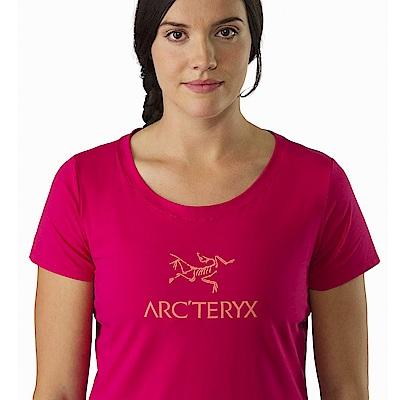 Arcteryx 24系列 女 LOGO短袖T恤 仙丹花紅