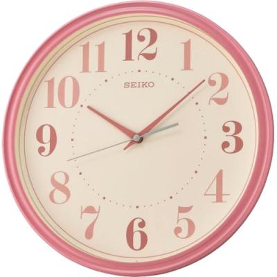 SEIKO 精工 時尚空間設計掛鐘(QXA740R)-粉/31.2cm