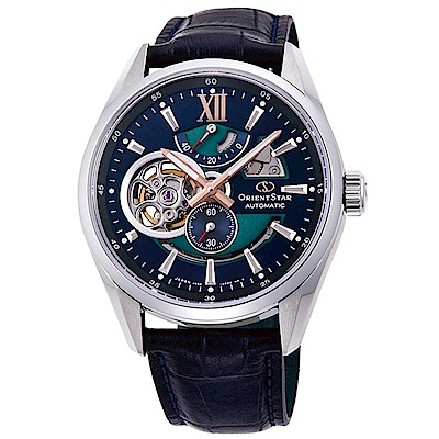 ORIENT  東方之星限量款鏤空機械錶(RE-DK0002L00B)-藍面x41.5mm