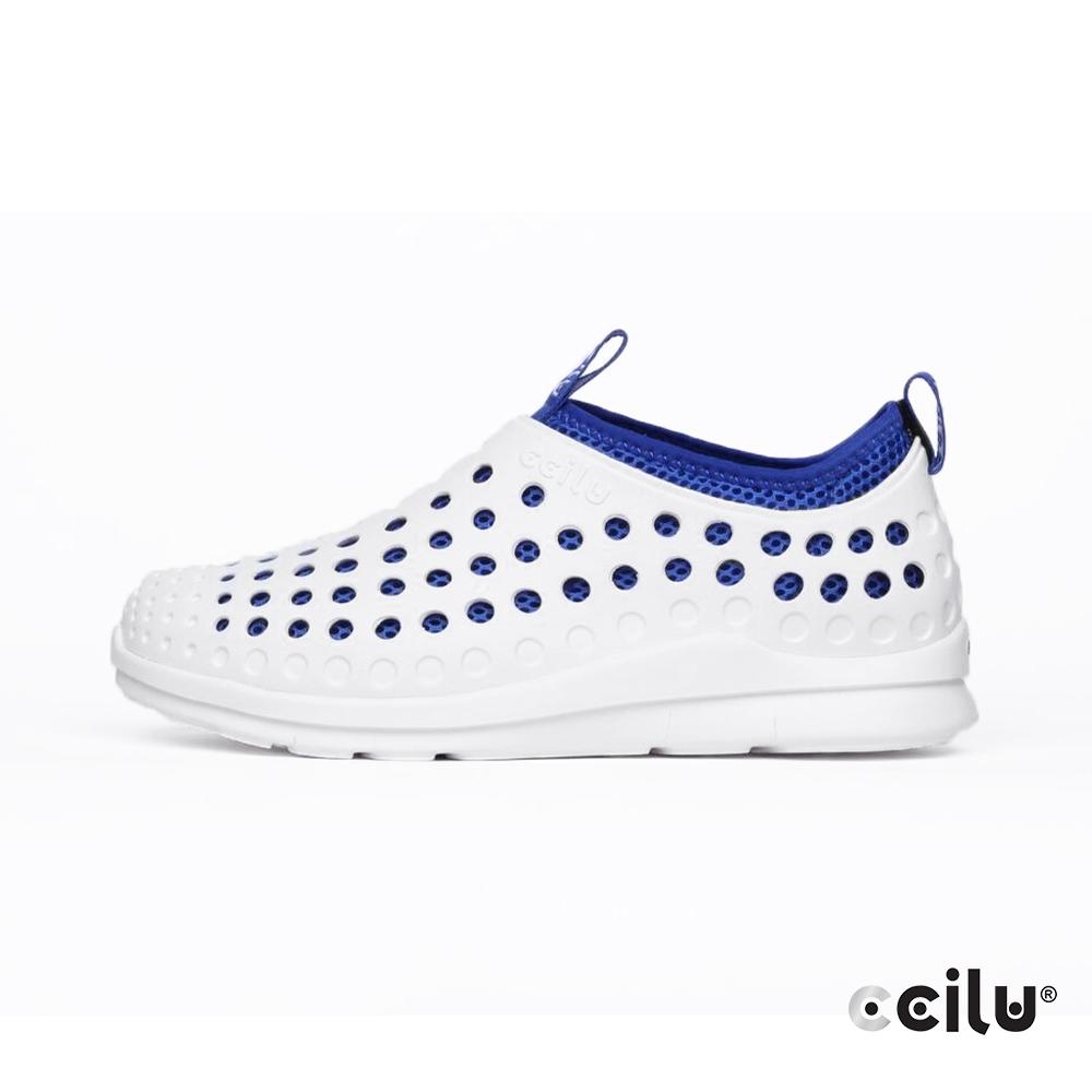 CCILU 洞洞輕量防水休閒鞋-男款-301284161簡約白