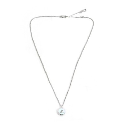 agnes b. b logo 珍珠母貝項鍊