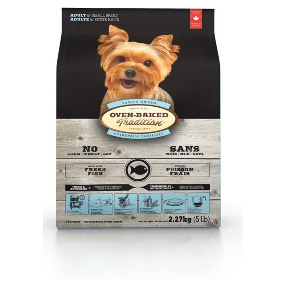 加拿大OVEN-BAKED烘焙客-成犬深海魚-小顆粒 2.27kg(5lb) (購買第二件贈送寵鮮食零食*1包)