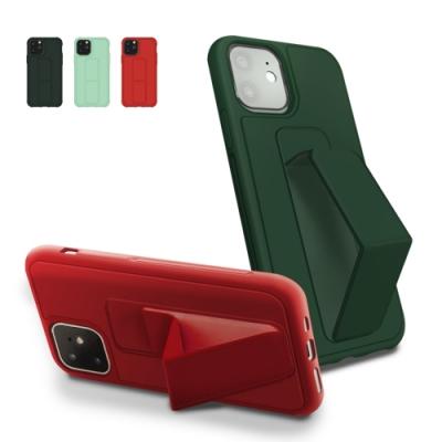 iPhone 12 mini 立架 支架 強力磁吸 純色 手機殼 松針綠 (iPhone12mini手機殼 iPhone12mini保護殼 )