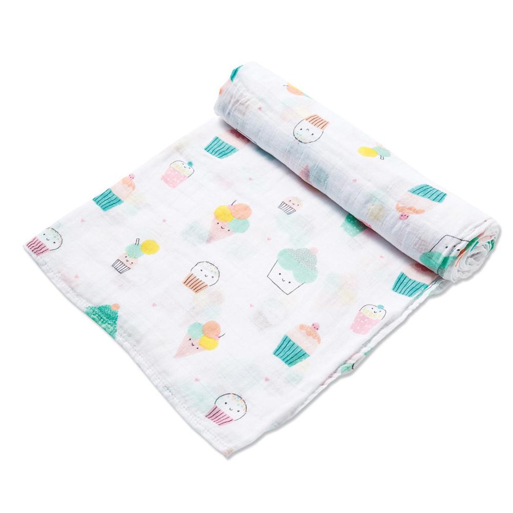 美國 Angel Dear 竹纖維嬰幼兒包巾禮盒 (杯子蛋糕)