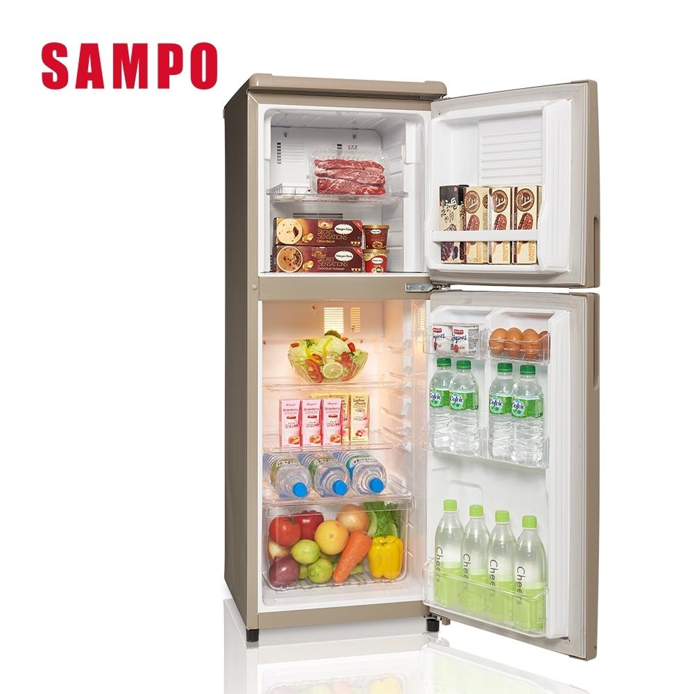 SAMPO聲寶 140L 1級定頻2門電冰箱 SR-C14Q(Y9) 晶鑽金