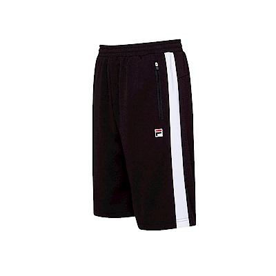 FILA 男款吸濕排汗短褲-黑色 1SHT-1453-BK