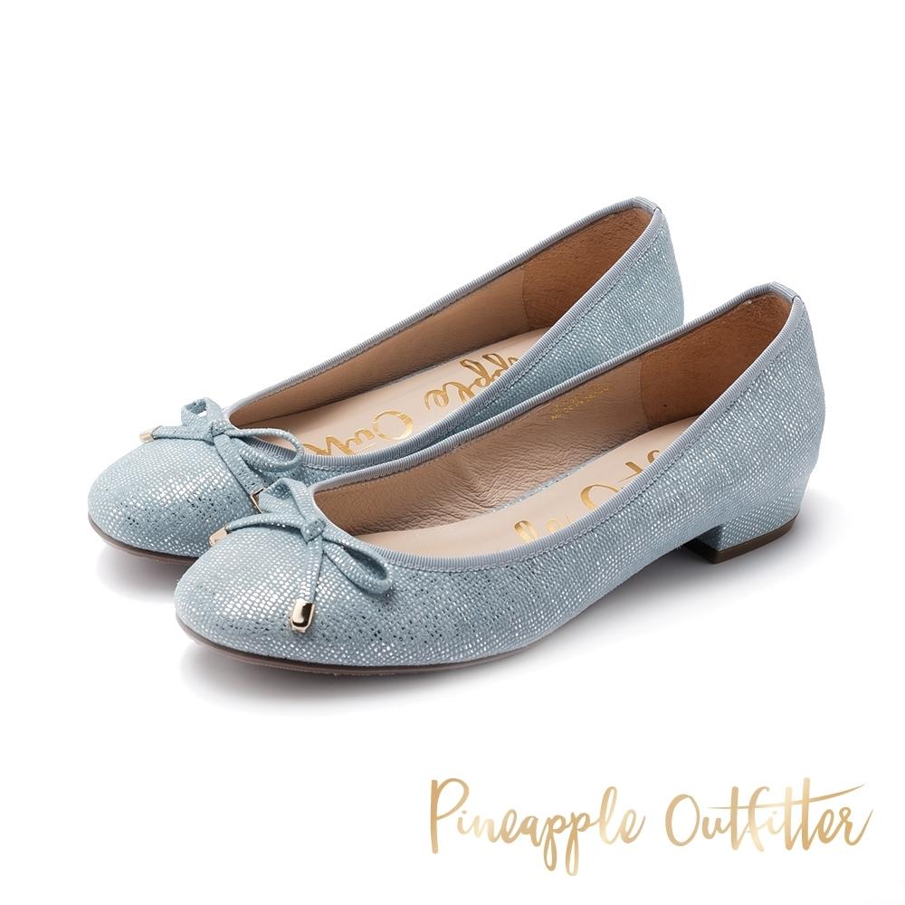 Pineapple Outfitter-FLAPPLE-BOW耀眼蝴蝶結平底鞋-藍色