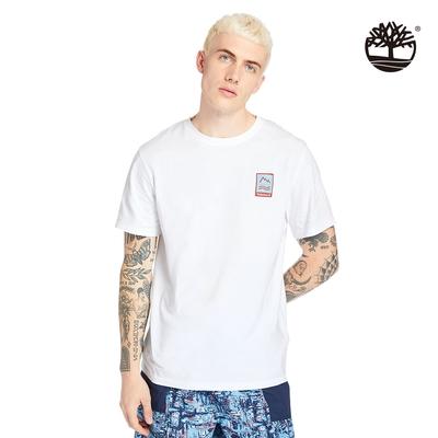 Timberland 男款白色戶外Archive圖案短袖T恤|A2DV3