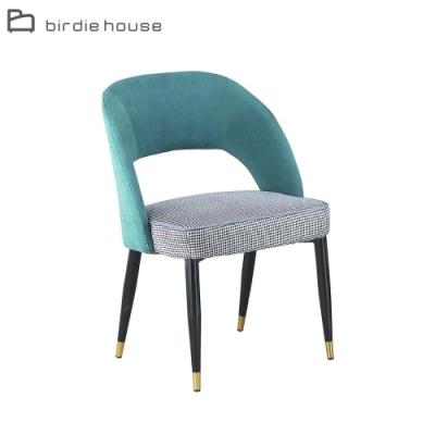 柏蒂家居-麥康納千鳥格紋布餐椅(單椅)-53x58x84cm