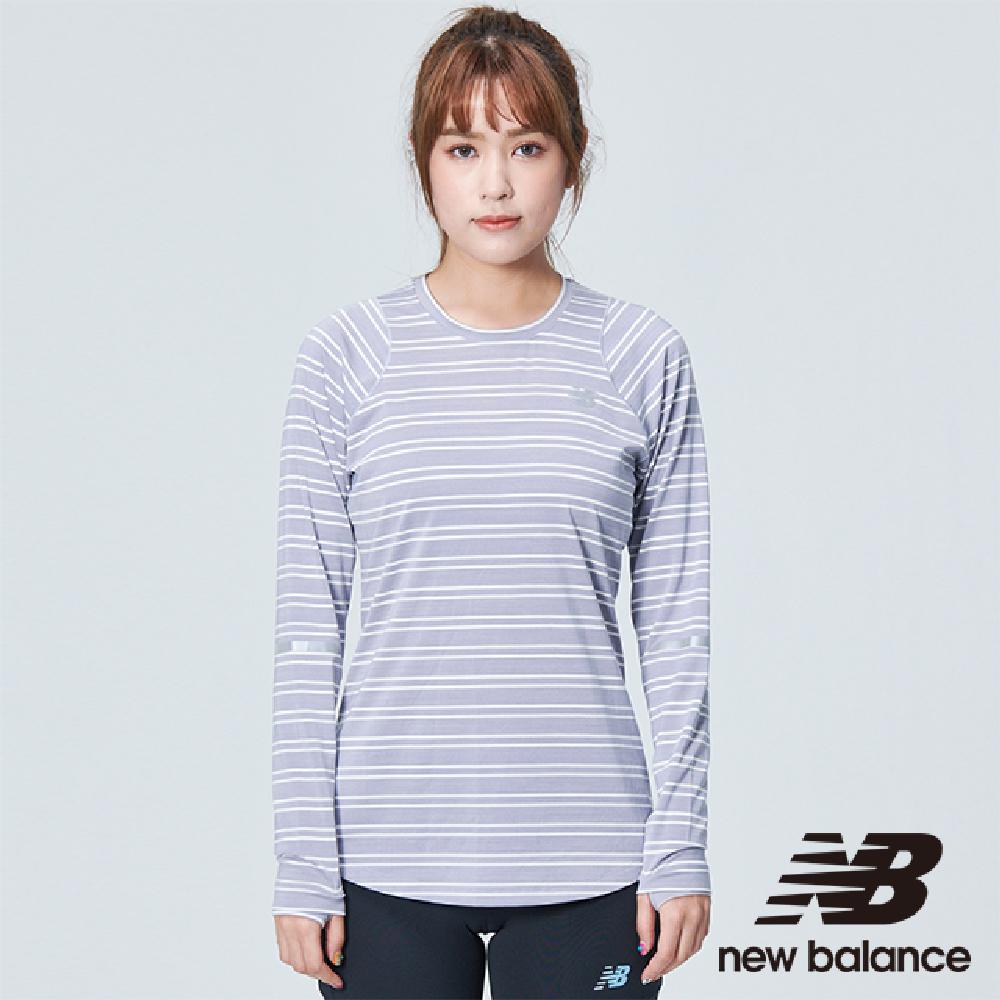 New Balance 慢跑長袖上衣 AWT73236ASK 女 灰