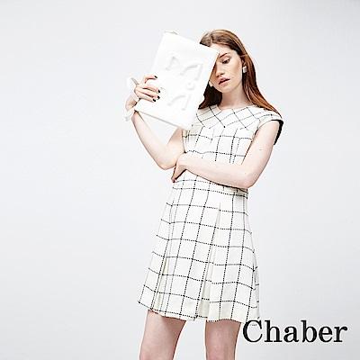 Chaber巧帛 格紋英倫簡約洋裝