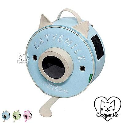 Catysmile 可愛圓球貓耳 寵物雙肩後背包 共3色