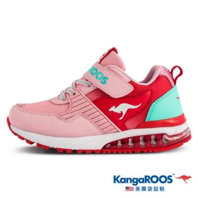 KangaROOS 美國袋鼠鞋 童鞋 SHIELD WR 防潑水機能運動鞋/跑鞋/休閒鞋(粉/紅-KK11333)