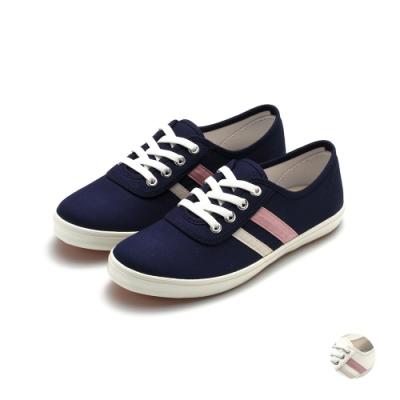 ARRIBA艾樂跑女鞋-休閒帆布鞋-藍/白(AB8099)