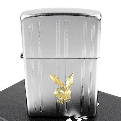 ZIPPO 美系~PLAYBOY-標誌圖案雙色自動雕刻打火機