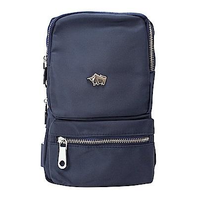 DRAKA 達卡 - 防潑水方形單肩斜背胸包-藍