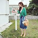IREAL 刷色顯瘦牛仔裙