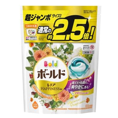 日本P&G 3D立體2.5倍洗衣果凍膠囊補充包-杏花清香(38顆入)