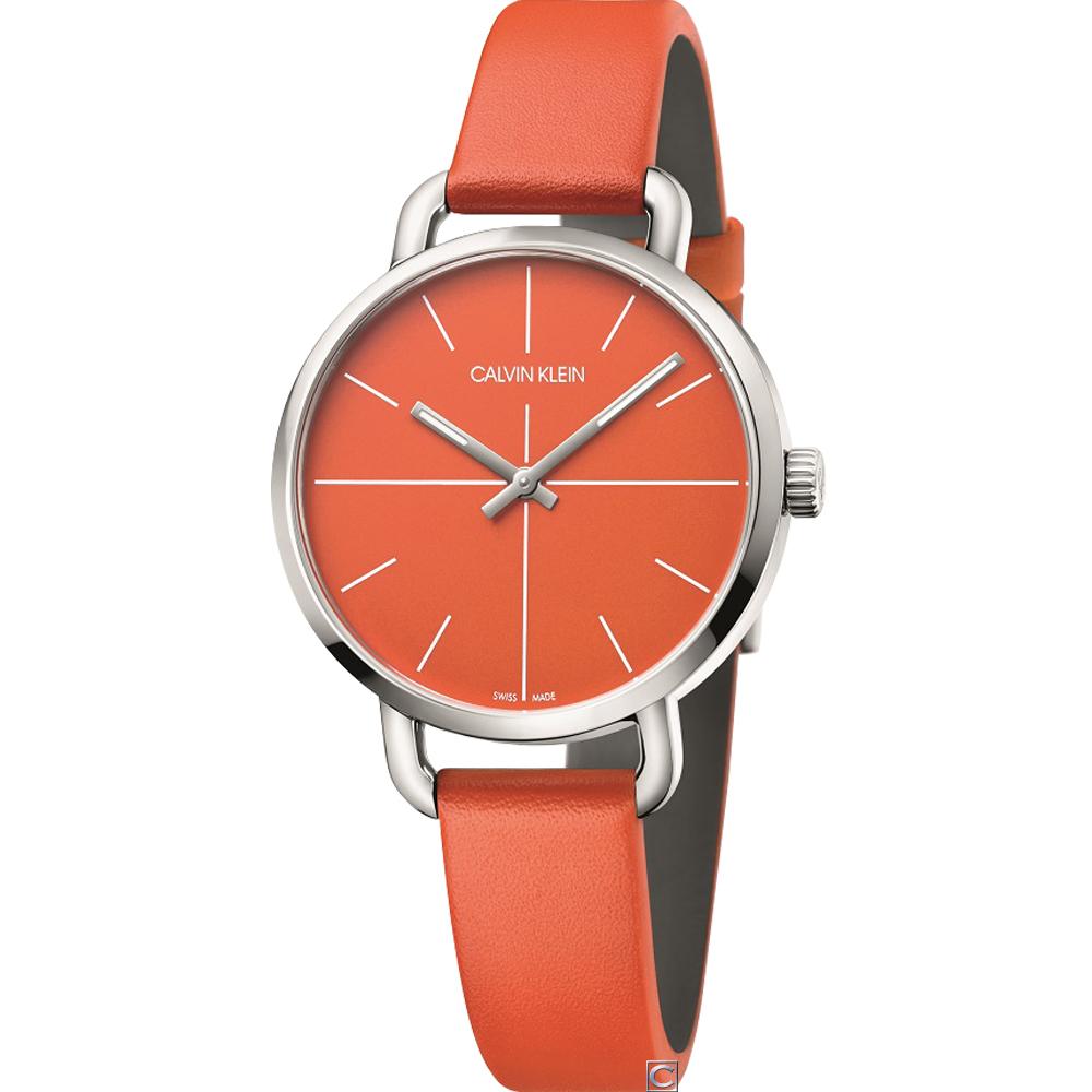 Calvin Klein K7B even 超然時尚腕錶(K7B231YM)橘/36mm