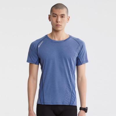 SUPERACE 天絲棉訓練機能TEE / 男款 / 藍色