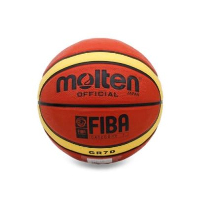 MOLTEN 12片橡膠深溝籃球 Molten 棕黃