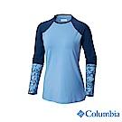 Columbia 哥倫比亞 女款-UPF50快排彈性長袖上衣-藍色 UAK26170