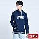 EDWIN 塗鴉系列 顏料配條厚連帽T恤-男-丈青色 product thumbnail 1