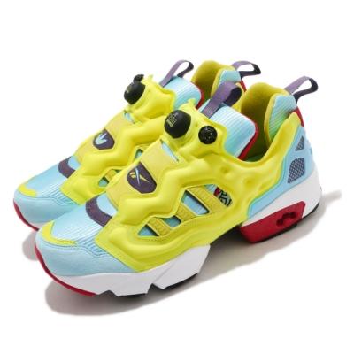 Reebok 休閒鞋 ZX Fury 運動 男女鞋 經典款 襪套 充氣科技 舒適 避震 黃 藍 FZ1877
