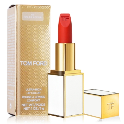 (即期品)TOM FORD ULTRA-RICH Lip Color 紅毯潤采唇膏#03 LE MEPRIS(3g) 白管-期效202203