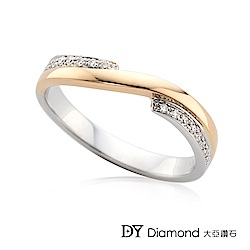 DY Diamond 大亞鑽石 18K金 雙色造型鑽石線戒