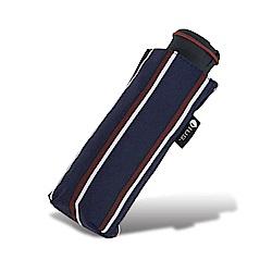 HUS 英倫風尚條抗UV迷你口袋傘