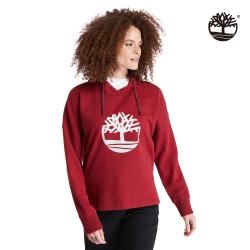 Timberland 女款豆沙色品牌標誌有機棉運動