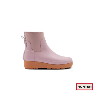 HUNTER - 女鞋 - Refined Creeper平底切爾西踝靴 - 粉