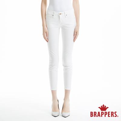 BRAPPERS 女款 新美腳Royal系列-女用中低腰彈性九分褲-白
