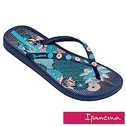 IPANEMA 閃耀花園人字拖鞋-藍色印花