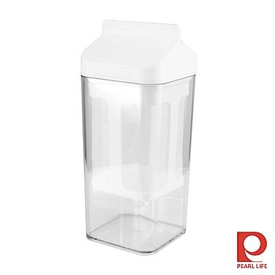 Pearl Life 日本牛奶盒造型水切優格盒1L-白色